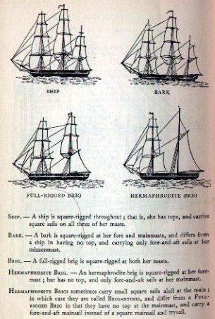 tall ship rig types plate 4 rh nightscribe com tall ship parts diagram tall ship rigging diagram